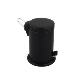 Black Bathroom Pedal Bin 3 Litre