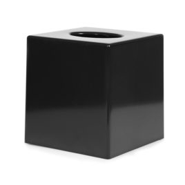 Black Cube Tissue Box Cover