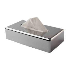 Chrome Long Tissue Box Cover