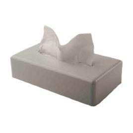 White Oblong Tissue Box Cover