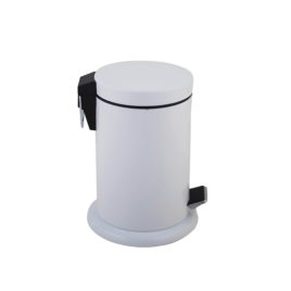 White Bathroom Pedal Bin 3 Litre