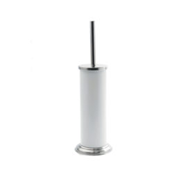 White Toilet Brush & Holder