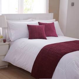 Burgundy Bed Runner