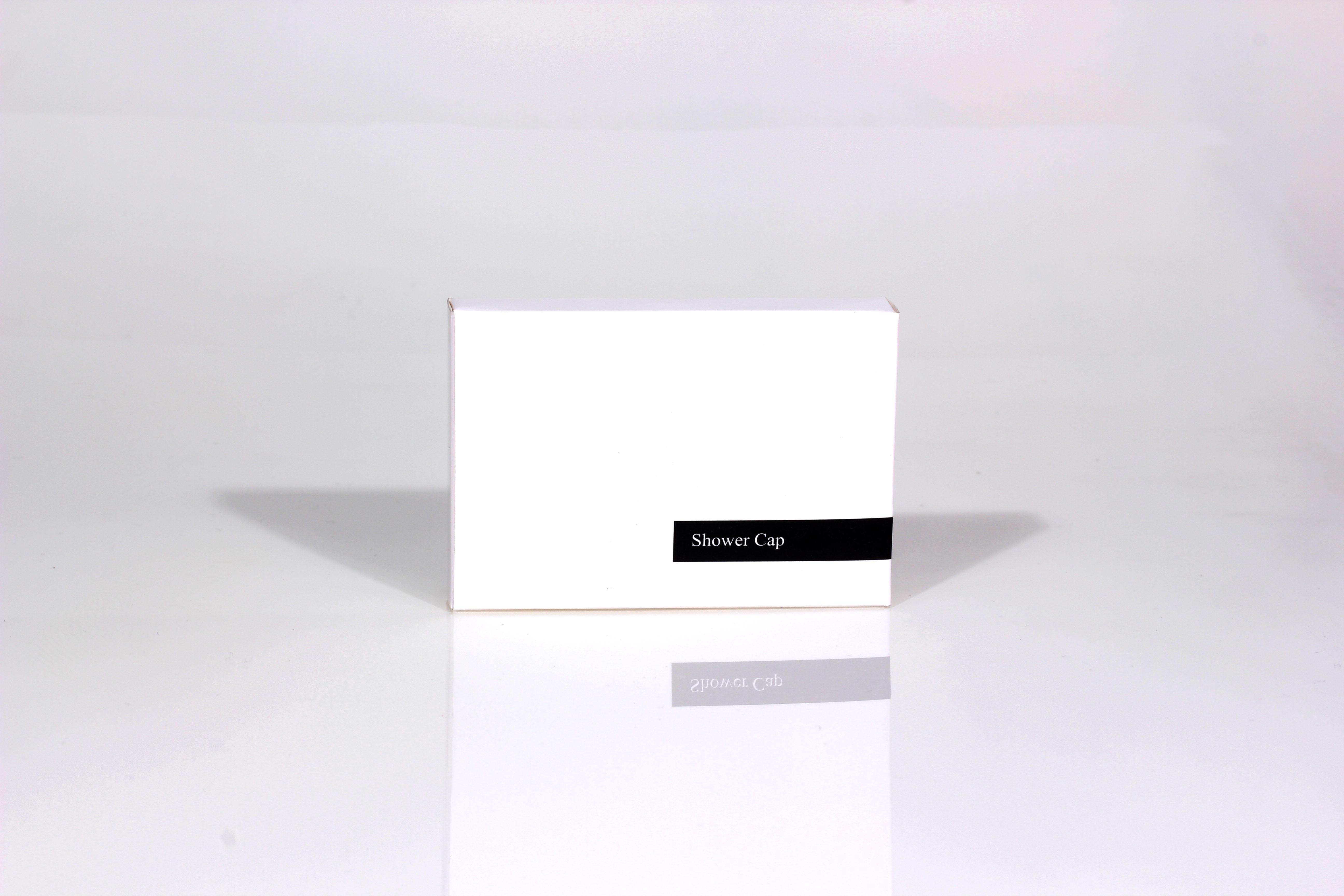 White Carton Boxed Shower Cap Guest Supplies Ireland