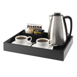 Leatherette Guest Refreshment Tray
