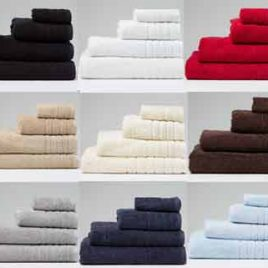 Luxury 650gsm Coloured Combed Cotton Towel Range