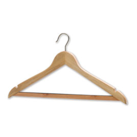 Hotel Traditional Chrome or Brass Wooden Coathangers