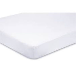 Premium Hotel White Fitted Sheets with Size ID Hem