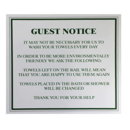 Towel Conservation Sign