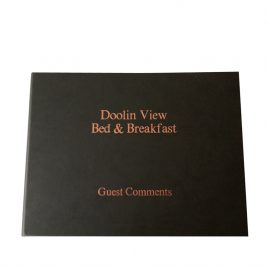 Luxury Personalised Guest Comments Book & Reusable Cover