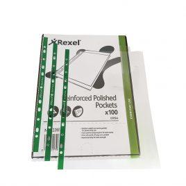 Rexel Heavy Duty Clear Plastic Pockets