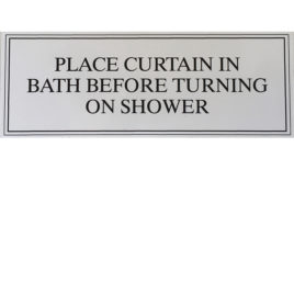 Shower Curtain Guest Sign