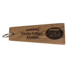 Solid Oak Engraved Taper Key Tag